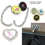 Custom Magnetic Purse Hanger - Round or Heart Shaped