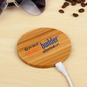 Bamboo Qi Wireless Charger Pad
