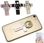 Custom Cross Shaped - Washington Metal Adhesive Cell Phone Ring Grip holder and Stand