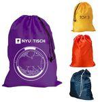 Custom Extra Large Nylon Drawstring Laundry Bag