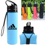 Custom Hydrate Silicone Collapsible Sports Water Bottle - 20 Oz