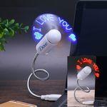 Custom LED Custom Message Fan - USB Powered