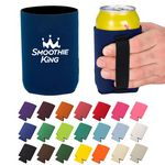 Collapsible Can And Bottle Cooler Holder w/ Elastic Strap