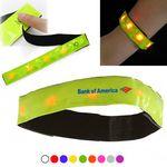 Custom LED Flashing Light Reflective Wristband and Armband w/ Velcro