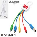 Custom Advanced 4 in 1 Carabiner USB Charging Cable with Type C port