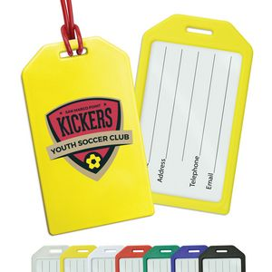Rigid Plastic Luggage Tag Holders with Full Color Imprint