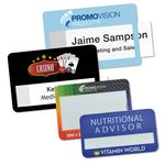 Custom Selfit Grande Reusable Name Badges, magnetic fastener, 3.75