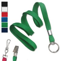 "3/8"" Blank Non-Breakaway Polyester Lanyards with Split Ring"