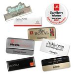 Custom Impress 5000 Name Badges - Engraved and silkscreen printed