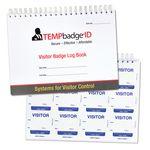 Custom TEMPbadge Visitor Badge Log Book, 20 Pages, 240 Badges