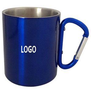 26be7fec6ec 9 Oz. Stainless Steel Mug w/ Carabiner Handle