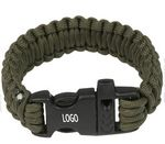 Custom Nylon Paracord Bracelet with Whistle