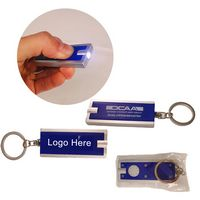 Rectangle Plastic LED Key Chains