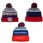 Custom Fashionable Solid Color Pull-on Knit Beanie Toque