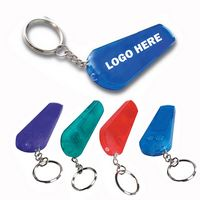 Two in one LED Whistle Keychain