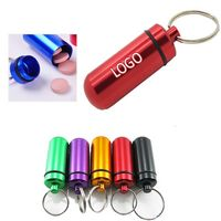 Key chain with pill holder