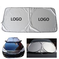 Double Circle Collapsible Car Window Sunshade