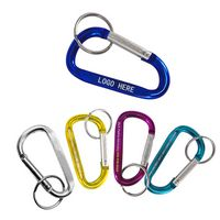 "2"" Custom Aluminum Carabiners w/ Key Ring"