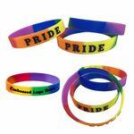 Custom Custom Embossed Rainbow Wristband