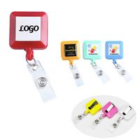 Plastic Retractable Square Badge Reel
