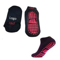 Women Trampoline/Jumping Polyester Socks With Dot Grip