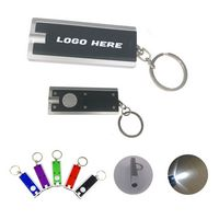 Plastic Flashlight Key Chain