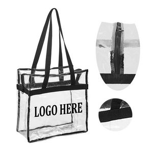 dc1b3a539e92 Clear PVC Zipper Tote Bag