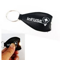 PU Leather LED Flashlight Key Tag