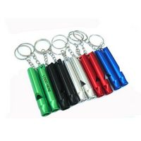Aluminum Whistle Key Ring