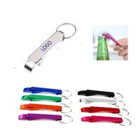 Aluminum Bottle Opener With Key Chain