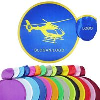 "10"" Polyester Foldable Flying Disc With Storage Pouch"