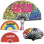 Big Bamboo Ribs Cloth Kung Fu Folding Clack Fan