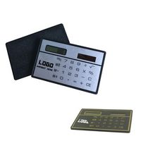 Card Shaped Solar Powered Calculator