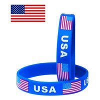 American Flag Silicone Wristband/Bracelet