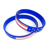Silkscreen USA Silicone Bracelet and Wristband