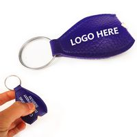 Custom PU Leather LED Key Chain