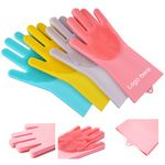 Custom Silicone Cleaning Brush Scrubber Gloves