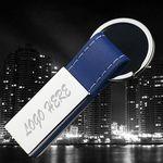 Custom Metal/Simulated Leather Key Tag