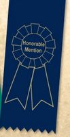 "2""x 6"" Honorable Mention Stock Lapel Award Ribbon"