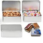 Custom Rectangle Hinged Tin Box - Empty