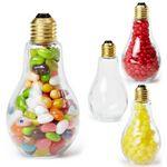 Custom Light Bulb Shape Jar Medium w/Jelly Beans