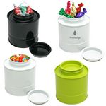 Custom Asian Style Round Tin Canister Box w/ Hard Candy