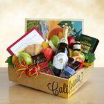 Custom Signature Fruit and Sparkling Cider Gift Box