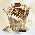 Custom California Chandon Golden Wine & Desserts Gift