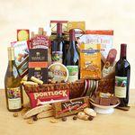 Custom California Splendor Deluze Wine Gift Basket