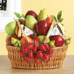 Custom Farmers' Market Fruit & Cheese Gift Basket