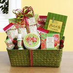 Custom Passion Flower and Olive Oil Spa Gift Basket