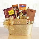 Custom Chocolate Gold Gift Tin