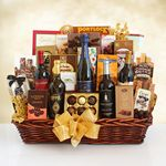 Custom California Grandeur Wine and Gourmet Gift Basket
