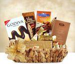 Custom Golden Chocolate Sampler Gift Basket